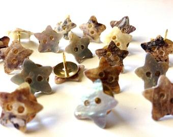 Star push pins | Etsy
