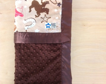 Baby Blanket- Buckaroo/ Brown