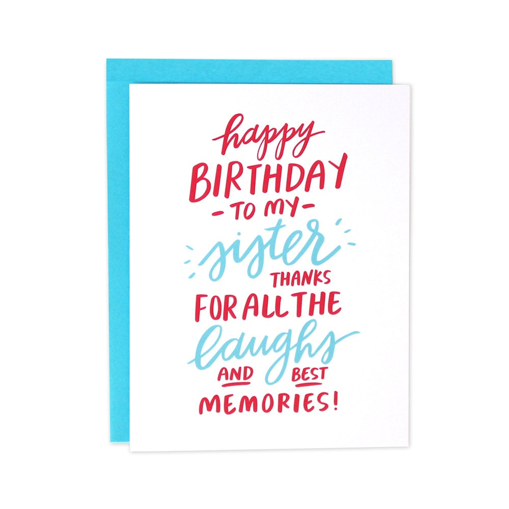 Sister birthday card – Birthday Card for Sister