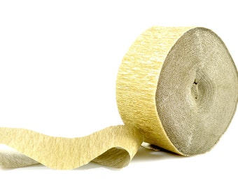 GOLD CREPE STREAMER - Metallic Gold Crepe Paper Streamer (30 metres / Approx 98 Feet)