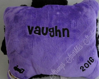 Personalized Pillow Pet Pee Wee cat with name - perfect for Easter, Birthday gifts or Valentine's day