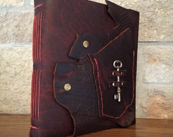 Leather-Bound Watercolor Art Journal | Handmade |