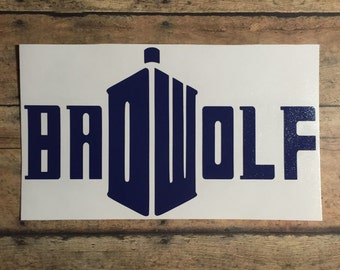 Bad Wolf Doctor Who decal