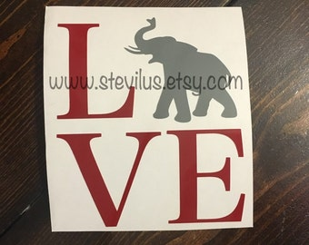 Elephant Love Decal | Yeti Decal | Car Decal | Mac Book Decal | Laptop Decal