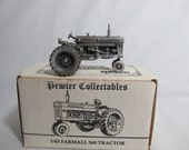 Pewter collectibles Farmall 560 tractor 1/43 scale model Spec Cast, made in USA