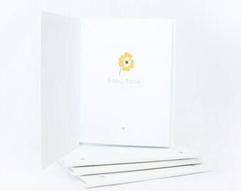 Petal - MODERN BABY BOOK, Floral, Mushybooks, Baby Memory Book, Baby Shower Gift, Baby Gift, Baby Shower, Baby Album, Keepsake