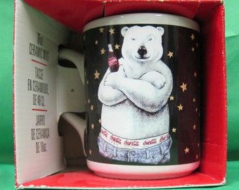 Coca-Cola Happy Bear Jeans 16oz Mug