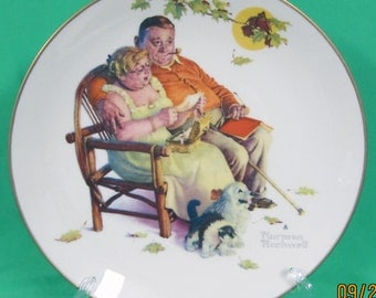 "Gorham Norman Rockwell 1973 Limited Edition ""Fondly Do We Remember"""