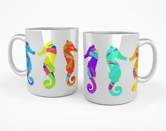 Seahorses mug - Multicoloured