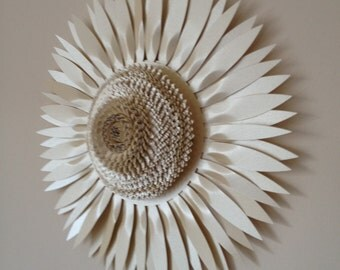 30cm Pearlescent Paper and Card Sunflower Wall Art