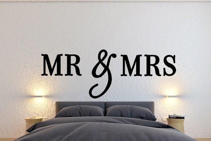 MR & Mrs Wall Sign Wall Hanging Letters Home Decor Bedroom