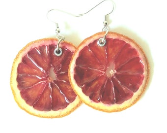 Real Blood Orange Earrings