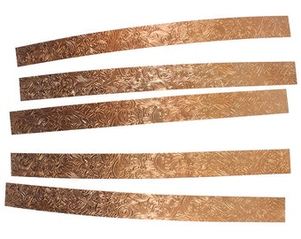 "Pattern Copper Strips 6"" x 1/2"" 24ga - CSP345"