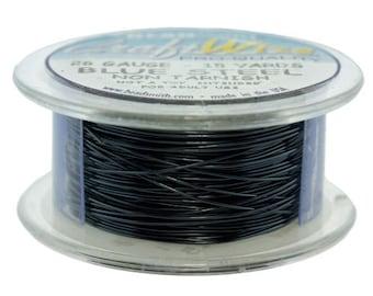 Craft Wire Tarnish Resistant Blue Steel Round Wire 26ga 15yd (WR6726BS)
