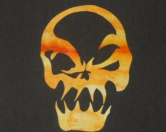 Freaky Skull Quilt Applique Pattern Design