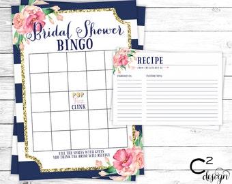 Bridal Shower Game Package | Florals & Stripes