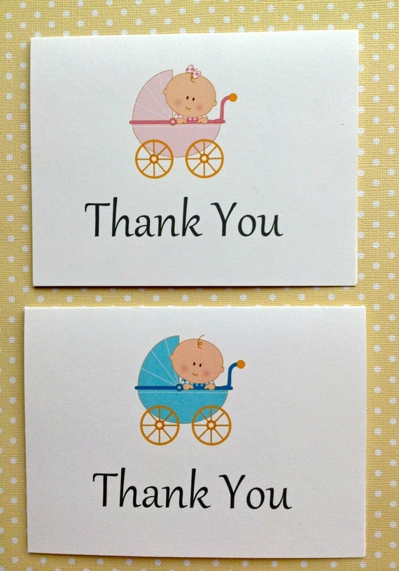 Baby Gift Card Thank You Note : Items similar to baby shower thank you cards