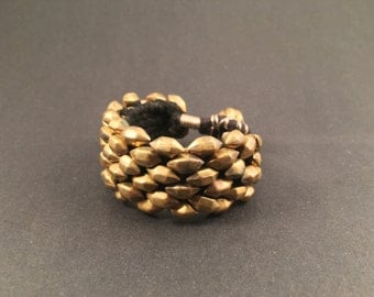 Bronze Tribal Cuff Handcrafted by Indian Artisans