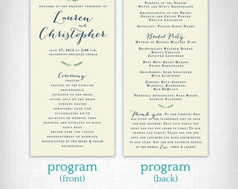 Wedding Programs: Lauren + Christopher