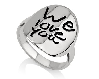 Handwriting Ring - Custom Handwriting Ring - With your Personalized Signature -  Signature Jewelry