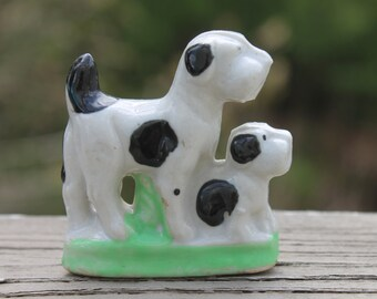 Vintage Ceramic Dog and Puppy