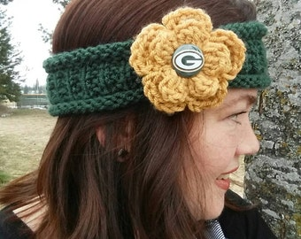 Green Bay Packers Headband, Packers Ladies Headband, Packers headband, Packers Headband, Cheesehead Headband, Green Bay Packers, Packers