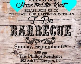 I DO BBQ / I do / Invitation