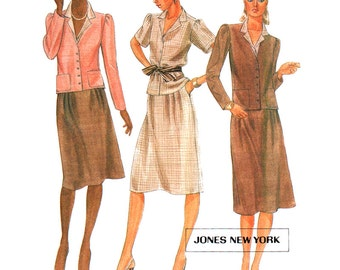 McCall's Sewing Pattern 7536 Misses' Jacket, Skirt, Shirt  Size:  6  Uncut
