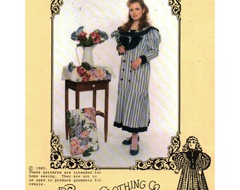 Prairie Clothing Co Paper Dolls Dress Sewing Pattern Misses Dress  Size:  XS-S-M-L  Uncut