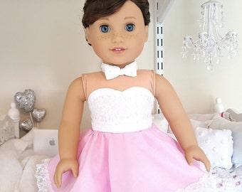 American girl doll pink sparkly skater skirt