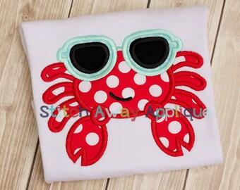 Cool Crab Summer Machine Applique Design
