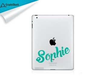 Name On ipad, iPad Mini iPad Air iPad Pro Ipad Decal iPad Decals Sticker Stickers