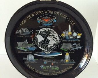 1964-65 New York World's Fair Lacquer Plate - Peace Through Understanding