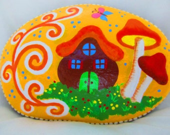 Fairy Garden Painted Rock