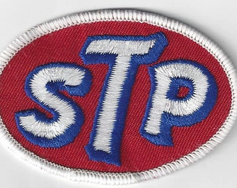 STP Racing Patch 3 Inches Long Size Vintage