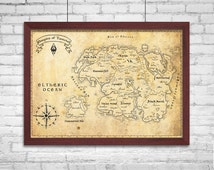 The Tamriel Empire (Elder Scrolls) - Authentic Fabric Map - Free Shipping