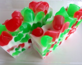 Holiday Candy Christmas soap - handcrafted glycerin soap - winter soap