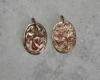 1  mermaid with dolphin,  #10 Pendant/ Charms,  Bronze