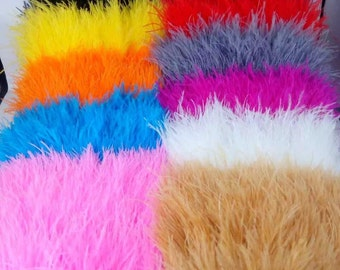 10 yards 8-10cm height white ostrich feathers trim,Ostrich feather Ribbons, feather boa ,ostrich feather plumes,wedding feather centerpieces