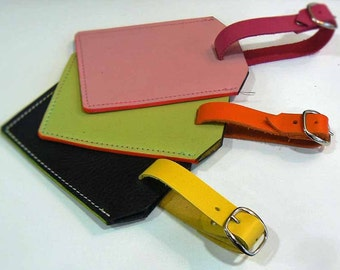 Luggage Tag, Leather Luggage Tag, Travel Accessory