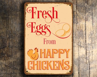 FRESH EGGS SIGN, Fresh Eggs Signs, Vintage style Fresh eggs Sign, Fresh eggs, Fresh Eggs From Happy Chickens, Chicken Signs, Chicken Coop