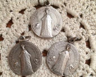 Vintage Notre Dame Religious Medals