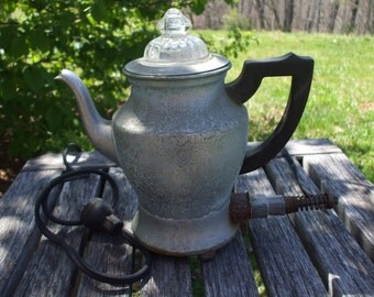Vintage Fire King Electric Percolator Coffee Pot/Coffee Maker/Still Works