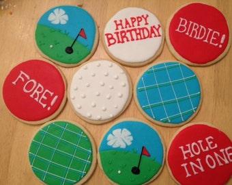 Golf Themed Sugar Cookies