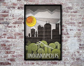 Indianapolis Art Deco Poster