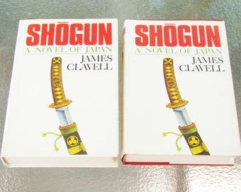 1975 SHOGUN - 2 Volume Set - A Novel of Japan - James Clavell - Book Club Edition