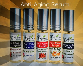 Anti Wrinkle Face and Eye Serum made with Retinol & Avocado pure vegan natural