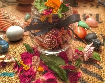 Miscela Magica personalizzata - Fiori ed erbe per incantesimi, rituali, oli, sacchettini - Magic Herbal blend.