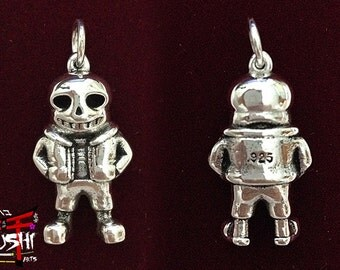 Undertale Sans Pendant, Sterling Silver 925, Exclusive for Undertale Fans!!!