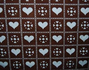 70's heart fabric
